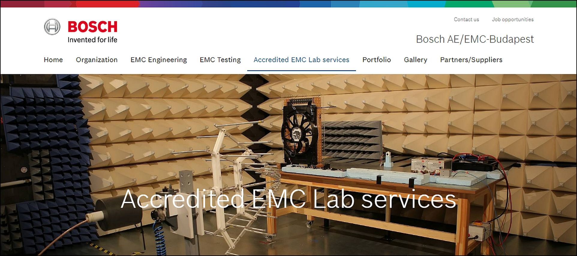 Robert Bosch AE/EMC website