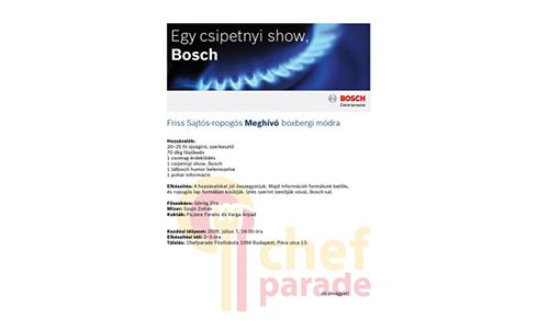 Robert Bosch - Chef parade